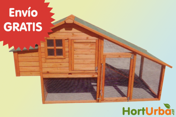 Gallinero prefabricado de madera modelo amsterdam - Prefabricados de madera ...